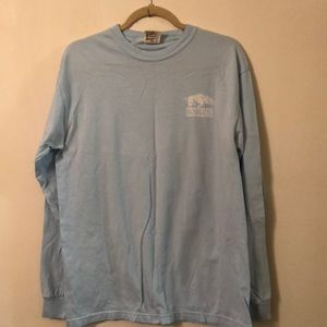 Tops - U. of Ark. Medium powder blue long sleeve tee